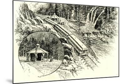 Yosemite Valley Mossbrae 1891, USA--Mounted Giclee Print