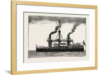 The Italian Ship Duilio, 1882--Framed Giclee Print