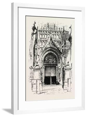Door of Seville Cathedral, Spain--Framed Giclee Print