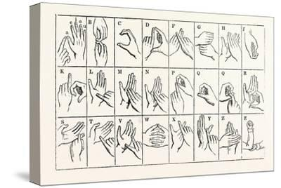 The Double-Handed Alphabet--Stretched Canvas Print