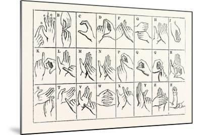 The Double-Handed Alphabet--Mounted Giclee Print