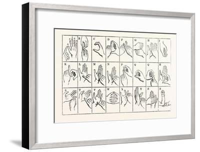 The Double-Handed Alphabet--Framed Giclee Print