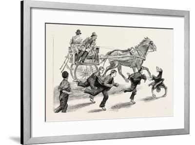 An Outside Car, 1888--Framed Giclee Print