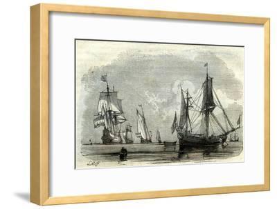 Ocean Ships Uk 17th Century--Framed Giclee Print