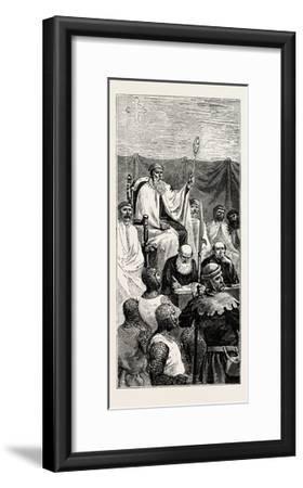 Grand Master Holding a Court--Framed Giclee Print