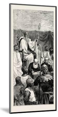 Grand Master Holding a Court--Mounted Giclee Print