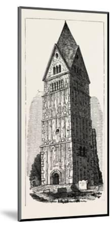 Earl's Barton Lincolnshire--Mounted Giclee Print