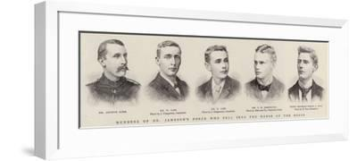 Members of Dr Jameson's Force Who Fell into the Hands of the Bores--Framed Giclee Print
