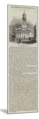 St Marylebone--Mounted Giclee Print