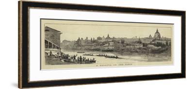 A Regatta on the Tiber--Framed Giclee Print