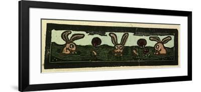 Illustration of English Tales Folk Tales and Ballads, Rabbits--Framed Giclee Print