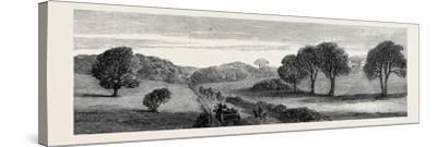 In the Meath Hunting Country: Holywood Rath House Ireland 1879--Stretched Canvas Print