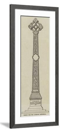 Design for the Lucknow Memorial--Framed Giclee Print