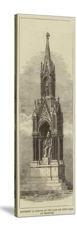 Monument in Honour of the Late Sir Titus Salt, at Bradford--Stretched Canvas Print
