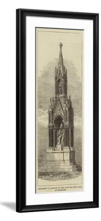 Monument in Honour of the Late Sir Titus Salt, at Bradford--Framed Giclee Print