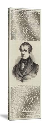 The Late James Fenimore Cooper--Stretched Canvas Print
