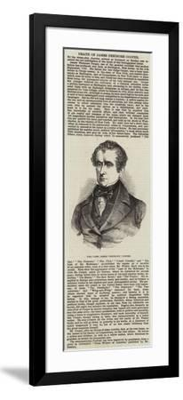 The Late James Fenimore Cooper--Framed Giclee Print