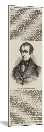 The Late James Fenimore Cooper--Mounted Giclee Print