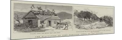 The Evacuation of Port Hamilton, Corea, by the English--Mounted Giclee Print