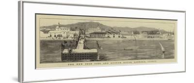 The New Iron Pier and Custom House, Larnaka, Cyprus--Framed Giclee Print