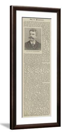 The Late Guy De Maupassant--Framed Giclee Print