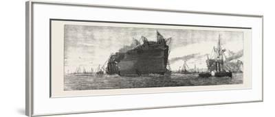 The Inflexible Being Towed to Her Moorings, 1876, UK--Framed Giclee Print