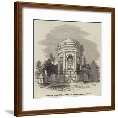 Cenotaph to Captain M L Dostal, at Sourabaya, Island of Java--Framed Giclee Print