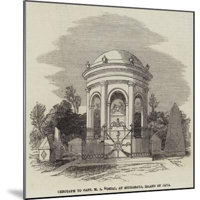 Cenotaph to Captain M L Dostal, at Sourabaya, Island of Java--Mounted Giclee Print