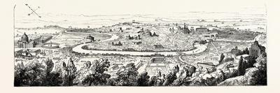 In the Forum Romanum the Pincian Hill, Rome, Italy--Framed Giclee Print