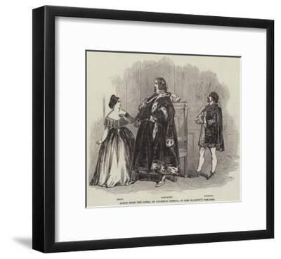 Scene from the Opera of Lucrezia Borgia, at Her Majesty's Theatre--Framed Giclee Print