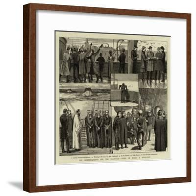 The Reinforcements for the Transvaal, Notes on Board a Troop-Ship--Framed Giclee Print