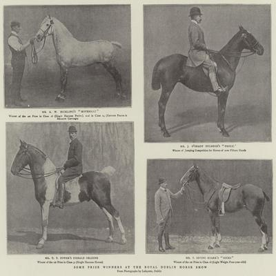 Some Prize Winners at the Royal Dublin Horse Show--Framed Giclee Print