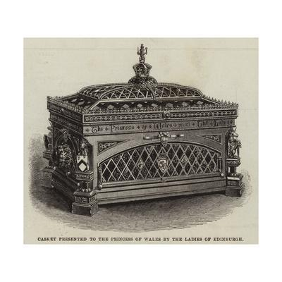 Casket Presented to the Princess of Wales by the Ladies of Edinburgh--Framed Giclee Print