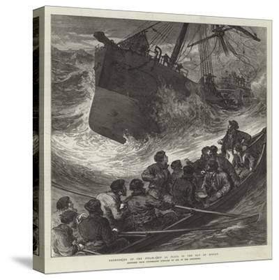 Foundering of the Steam-Ship La Plata in the Bay of Biscay--Stretched Canvas Print