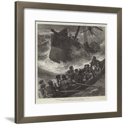Foundering of the Steam-Ship La Plata in the Bay of Biscay--Framed Giclee Print