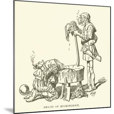 Death of Buckingham--Mounted Giclee Print