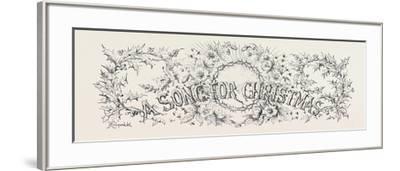 A Song for Christmas--Framed Giclee Print