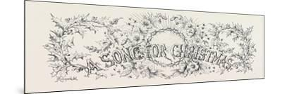 A Song for Christmas--Mounted Giclee Print