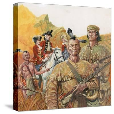 The Last of the Mohicans, the Novel by James Fenimore Cooper--Stretched Canvas Print