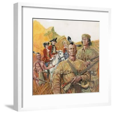 The Last of the Mohicans, the Novel by James Fenimore Cooper--Framed Giclee Print