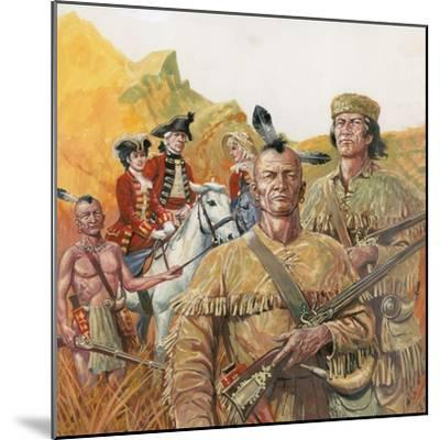 The Last of the Mohicans, the Novel by James Fenimore Cooper--Mounted Giclee Print
