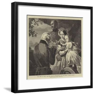 The 1 May 1851, the Duke of Wellington and His Godson Prince Arthur--Framed Giclee Print
