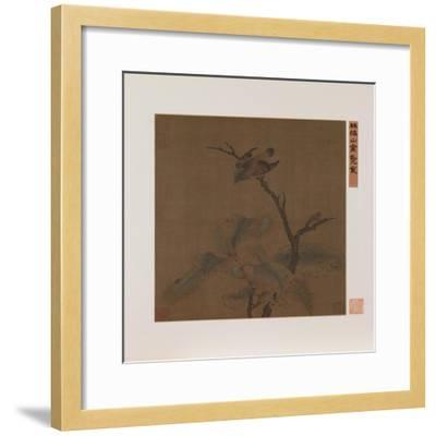 Bird on a Branch--Framed Giclee Print