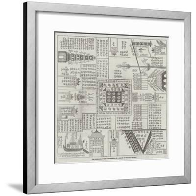 The Rebellion in China, Credential of a Member of the Triad Society--Framed Giclee Print