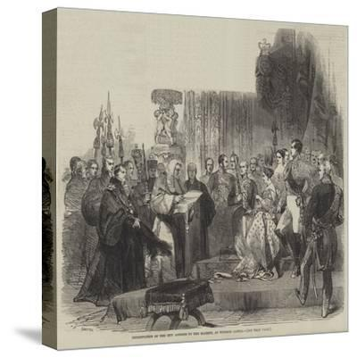 Presentation of the City Address to Her Majesty, at Windsor Castle--Stretched Canvas Print