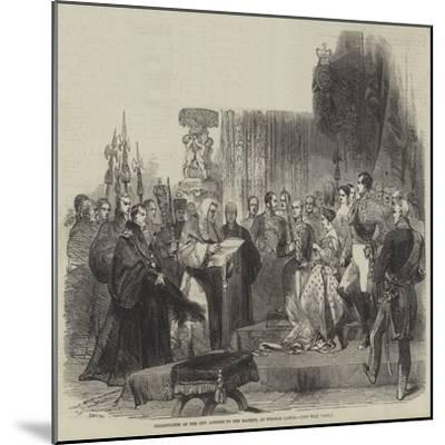 Presentation of the City Address to Her Majesty, at Windsor Castle--Mounted Giclee Print