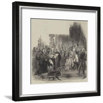 Presentation of the City Address to Her Majesty, at Windsor Castle--Framed Giclee Print