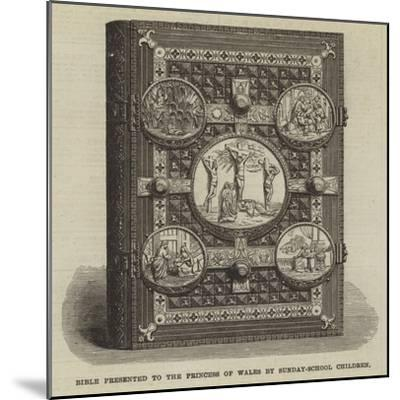 Bible Presented to the Princess of Wales by Sunday-School Children--Mounted Giclee Print