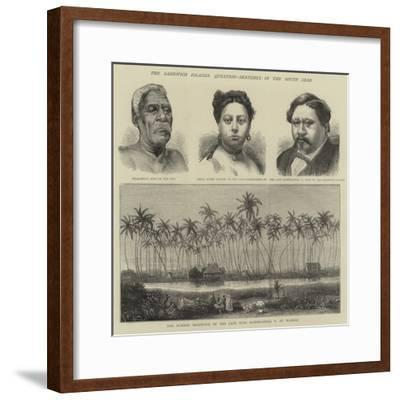 The Sandwich Islands Question, Sketches in the South Seas--Framed Giclee Print