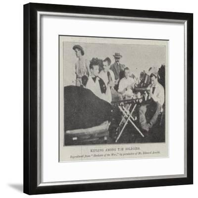 Kipling Among the Soldiers--Framed Giclee Print